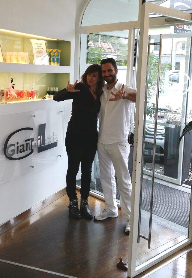In compagnia di Gianluca Coppola, hairstylist del programma tv X-Factor!